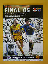 Scottish League Cup Final - Rangers v Motherwell - 20th March 2005