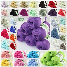 Sale New 6 balls x50gr Soft Baby Natural Smooth Bamboo Cotton Hand Knitting Yarn