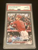 2018 Shohei Ohtani Topps Holiday Rookie RC #17 PSA 10 Gem Mint! 💎🔥💎🔥