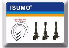 (Set) Spark Plug Wire Set & 3 Kits Ignition Coil Fits: Kia Sorento 03-06 V6 3.5L