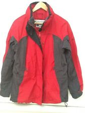 Columbia Womens Red  Gray Insulated Jacket Parka Interchange Outer Jacket Small