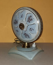 Lampada vintage da comodino in vetro tondo e metallo - H= 16,5 cm. - Abat jour
