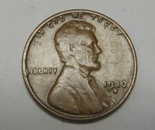 1930-S Lincoln Wheat Cent in Average Circulated Condition    DUTCH AUCTION