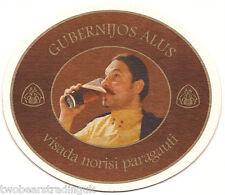 Beer Mat: Gubernijos Alus (Gubernija Brewery, Lithuania)