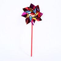 New 10X Plastic Windmill Pinwheel Wind Spinner Kids Toys Lawn Garden Party Decor