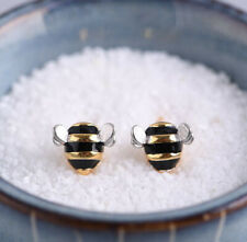 K05 Earring Studs Bee Sterling Silver 925 Gold Plated