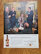 1956 Lord Calvert Whiskey Ad MacKinlay Kantor  Author Novel Andersonville