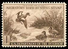 momen: US Stamps #RW9 Mint OG Duck Sound
