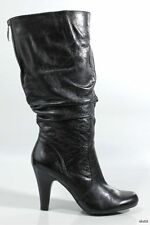 new GUESS 'Byberry' black leather high heel BOOTS shoes 10 - gorgeous
