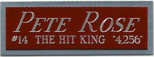 PETE ROSE REDS NAMEPLATE FOR AUTOGRAPHED Signed Baseball Display CUBE CASE