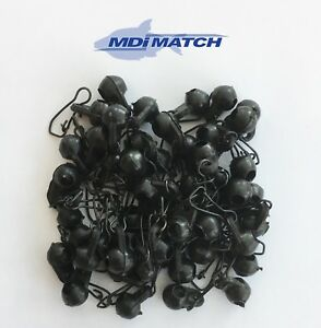 MDI Match Quick Change Black Sliding Run Feeder Beads with Snap Link Pack of 50