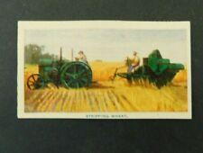 c1940 Hoadleys Trade Card Birth of a Nation 15 Stripping Wheat Australiana VGC