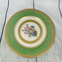 Vintage Plate H & Co Selb Bavaria Germany Heinrich & Co. Hand Painted Gold Trim