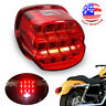 LED Tail Light Red Lens Brake Rear Lamp Fit for Harley Softail Touring 1999-2019