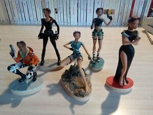 TOMB RAIDER lot de 5 statuettes de Lara Croft des Éditions Atlas