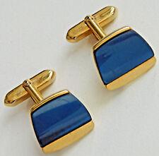 Vintage cufflinks blue-grey men's accessories 1980s 1990s R