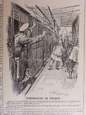 WW1 1915 BRITISH SUPPLY TRAIN SOMEWHERE IN FRANCE Punch Cartoon 21st April