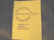 Lambretta  Series 3 parts manual 125-200cc Li, SX, Special, Tv.  LAM06