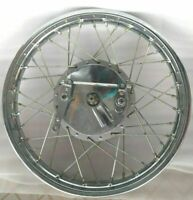 """ROYAL ENFIELD COMPLETE FRONT WHEEL RIM 19"""" & 40 HOLES WITH DRUM PLATE"""