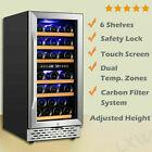 "15"" Dual Zone Wine Cooler 32 Bottle Built-in or Freestanding Wine Refrigerator d photo"