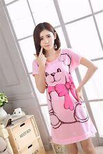 Big Bear Women Girl Sleepwear Pajama Nightwear Nightdress Sleepdress M-2XL