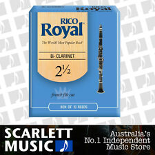 Rico Royal Bb Clarinet Reed 10 Pack Reeds Size 2.5 (2 1/2 - Two And a Half) 10PK