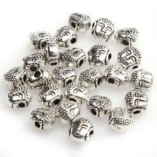 50pcs New Tibetan Silver Buddha's Head Loose Beads For jewlery charms