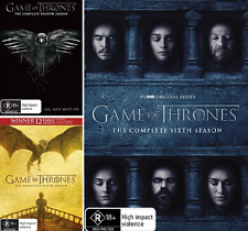 Game Of Thrones SEASON 4 , 5 & 6 : NEW DVD