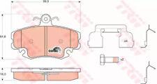FRONT BRAKE PADS SET TRW GDB1634