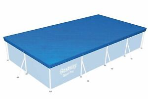Bestway Steel Frame Weather Secure Rectangular Swimming Pool Cover