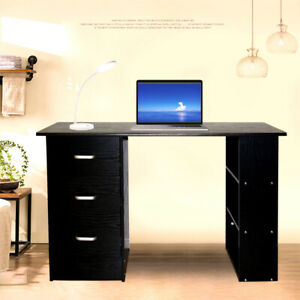 Office Computer Desk Student Study Table Workstation Drawers 120cm