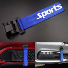 Blue Universal Car Bumper Sports Style Racing Tow Hook Strap Auto Decoration