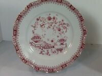 Seltmann Weiden Chinoiserie Theresia Red Dinner Plate Bavaria W Germany