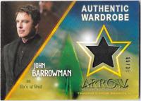 Cryptozoic Arrow 4 Costume Wardrobe Relic Card John Barrowman M08 10 / 99
