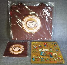 Pop'n Music 9 Cafe Bag & Coaster & Mouse pad Set of 3 KONAMI Game Anime JAPAN