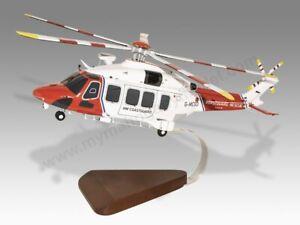AgustaWestland AW189 HM Coastguard Rescue Solid Replica Helicopter Desktop Model