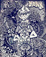 original art RICO1 street graffiti canvas abstract pop psychedelic underground