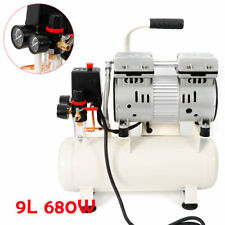 Flüster Kompressor Luftkompressor Leise Silent Druckluft 9LKessel 680W 57dB 8Bar