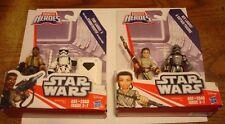 Playskool Star Wars Galactic Heroes lot Finn & Trooper Rey & Phasma NEW Hasbro
