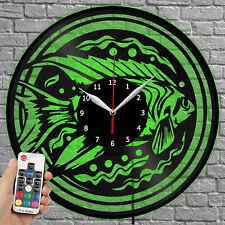 LED Clock Fish Vinyl Record Wall Clock Led Light Wall Clock 1644