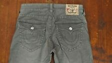 Authentic True Religion Mens Micro Corduroy Stretch Pants 32x34 33 Ricky Silver