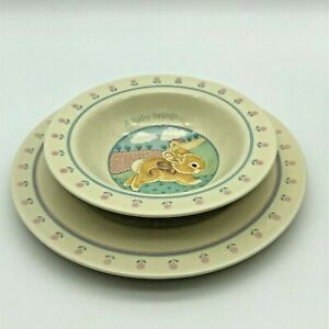Vintage Hallmark 1984 HEIRLOOM Collection BABY Bowl Plate (Lot of 2)