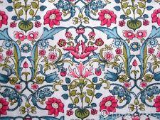 0,5 m Stoff ÖKOTEX ♥ Jugendstil Baumwolle Blumen Ornamente petrol rot Florencia