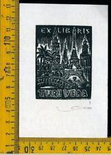 Ex Libris Originale Karoly Andrusko Jugoslavia  b 357 Turi Vera