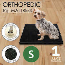 Small Orthopedic Memory Foam Dog Bed Pet Beds Mat Cat Pad Cushion Black