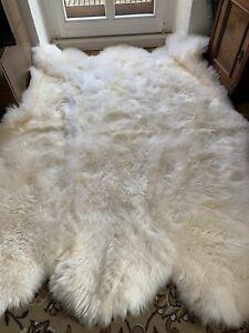 Fur Carpet fur Cover Fur Sheepskin Rug Lambskin 6 Er Fireplace Fur
