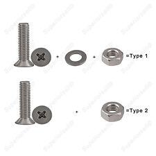 M3*6-40mm Phillips Countersunk Screw Bolt+Nut+Flat Washer Kit A2/304SS Var.Match
