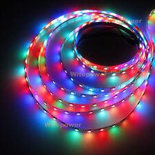 5V Addressable WS2812B 5050 RGB LED Strip 5M 300 SMD 60Leds/m Flex Rope Light