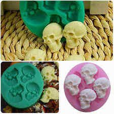 Skull Head Silicone Fondant Cake Mould Chocolate Mold Halloween Party Decoration
