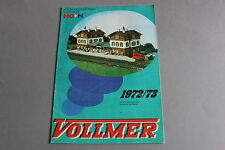 X449 VOLLMER Train catalogue maquette Ho N 1972 1973 30 pages 29,5*21 F + tarif